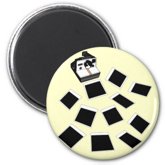 flying photos 2 inch round magnet