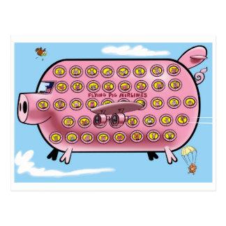 Flying Pig Airlines Postcard