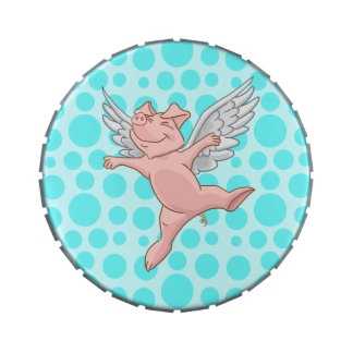 Flying Pig and Blue Polka Dots