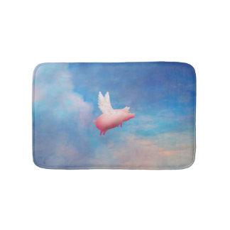flying pig bath mat