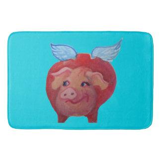 flying pig bathmat