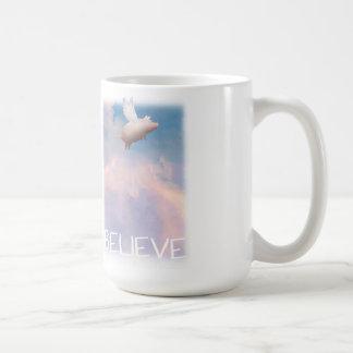 flying pig - believe mug