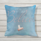flying pig believe pillow