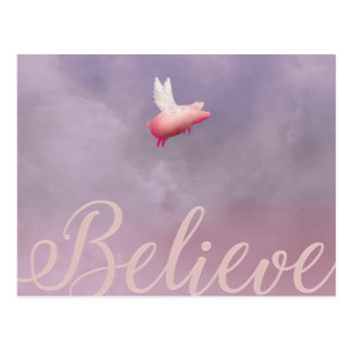 Flying Pig-Believe Postcards