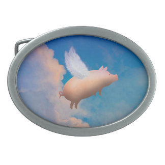 flying pig belt buckle