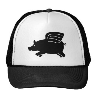 Flying Pig - Black Trucker Hat