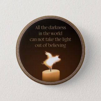 Flying Pig Candle Flame Button