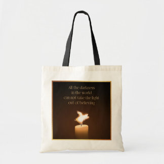 Flying Pig Candle Flame Tote Bag