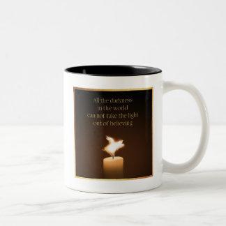 Flying Pig-Candle Flame Two-Tone Coffee Mug