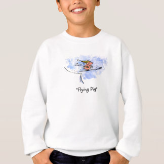 Flying Pig - Cool Ski Jumping Pig Athlete Sweatshirt