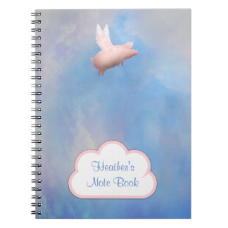 Flying Pig Customizable Note Book