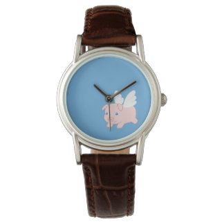 Flying Pig - Cute Piglet with Wings Wristwatch