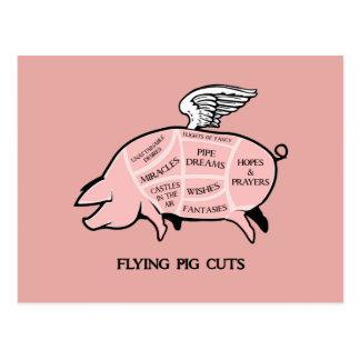 Flying Pig Cuts Postcard