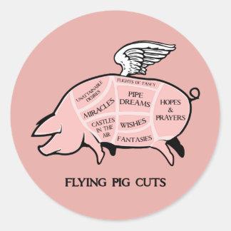 Flying Pig Cuts Sticker
