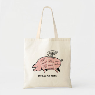 Flying Pig Cuts Tote Bag