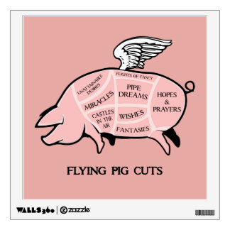 Flying Pig Cuts Wall Decal