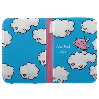 Flying pig dances on clouds cases for the kindle
