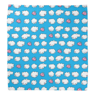 Flying Pig Dances on Clouds Customisable Bandana