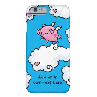 Flying Pig Dances on Clouds Customisable Barely There iPhone 6 Case