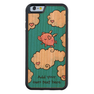 Flying Pig Dances on Clouds Customisable Cherry iPhone 6 Bumper