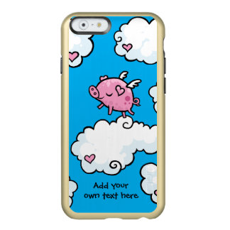 Flying Pig Dances on Clouds Customisable Incipio Feather® Shine iPhone 6 Case