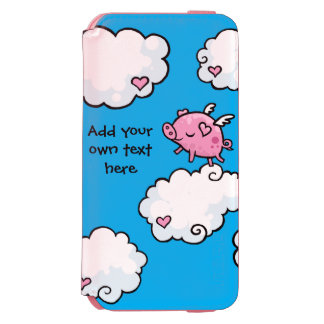 Flying Pig Dances on Clouds Customisable Incipio Watson™ iPhone 6 Wallet Case