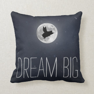 Flying Pig-Dream Big Throw Pillow