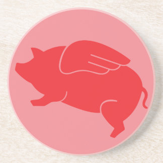 flying pig  🐷 drink coasters