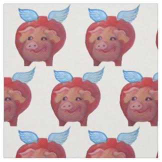 flying pig fabric