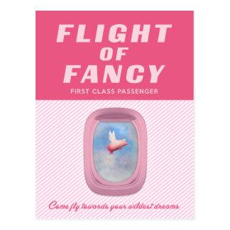 Flying Pig-Flight of Fancy Postcard