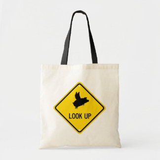 Flying Pig Sign Tote Bag