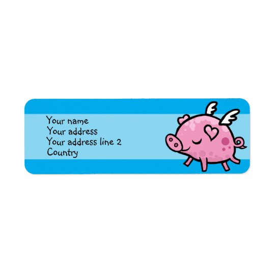 Flying Pig Slim Address label