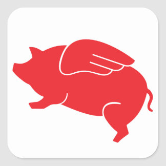 flying pig  🐷 square sticker