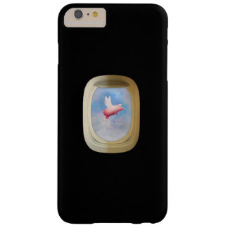 Flying Pig Through Airplane Window Barely There iPhone 6 Plus Case