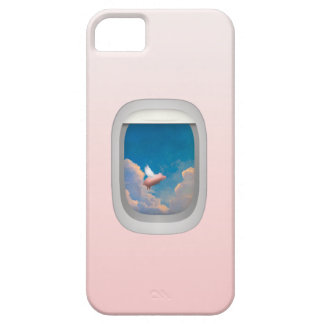 flying pig through airplane window iphone case
