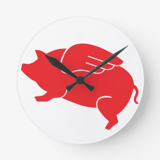 flying pig  🐷 wall clocks