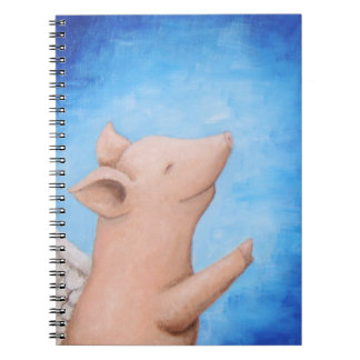 Flying Pig When Pig Flies Pig Can Fly Notebook