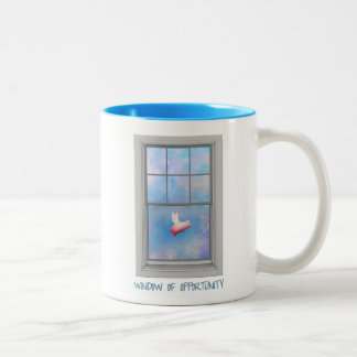 Flying Pig-Window of Opportunity Two-Tone Coffee Mug