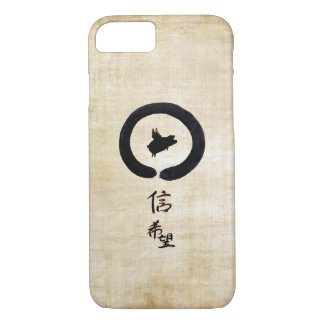Flying Pig Zen Art - Hope & Faith in Chinese iPhone 8/7 Case
