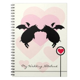 Flying piggies spiral notebook