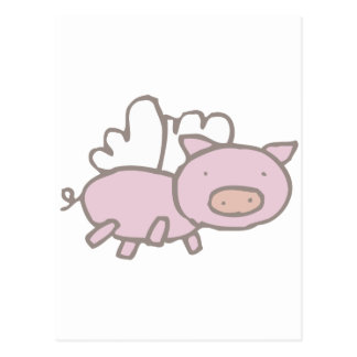 Flying Piggy Postcard
