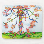 Flying Pigs Around the Maypole Mousepad