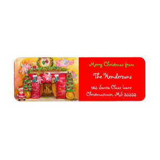Flying Pigs Decorate Address Labels