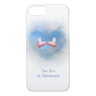 Flying Pigs Kiss-Unbelievable Love iPhone 8/7 Case