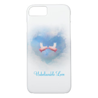 Flying Pigs Kissing-Unbelievable Love iPhone 8/7 Case