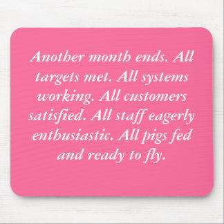 Flying Pigs mousemat Mouse Pad