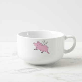 Flying Pigs Soup Bowl