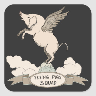 Flying Pigs Squad Square Sticker