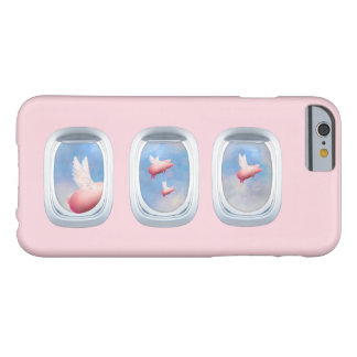 Flying Pigs Through Airplane Window Barely There iPhone 6 Case
