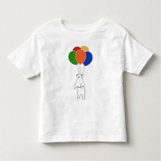 Flying Polar Bear with Birthday Balloons Toddler T-shirt